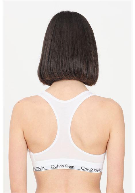 White bralette with logo band in contrast calvin klein CALVIN KLEIN | Bralette | 0000F3785E100