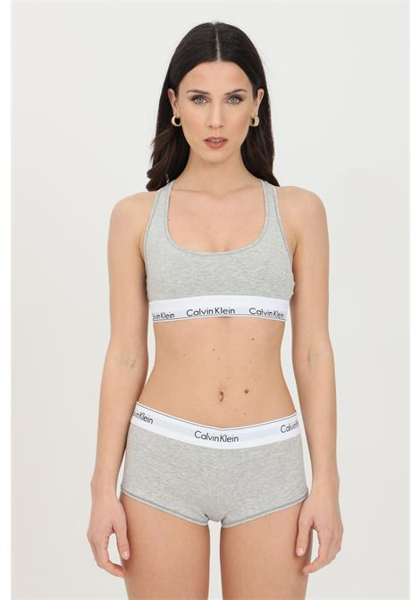 Grey hipster boxer shorts with medium waist and contrasting logo band. Calvin klein CALVIN KLEIN |  | 0000F3788E020