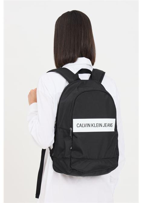 Black unisex backpack by calvin klein  CALVIN KLEIN | Backpack | K50K506936BDS
