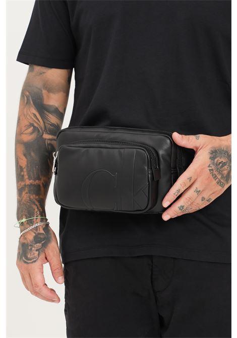 Black unisex pouch by calvin klein  CALVIN KLEIN | Pouch | K50K506952BDS