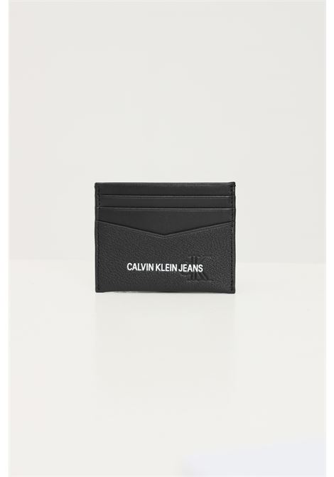 Black men's wallet by calvin klein with contrasting logo CALVIN KLEIN | Wallet | K50K506958BDS