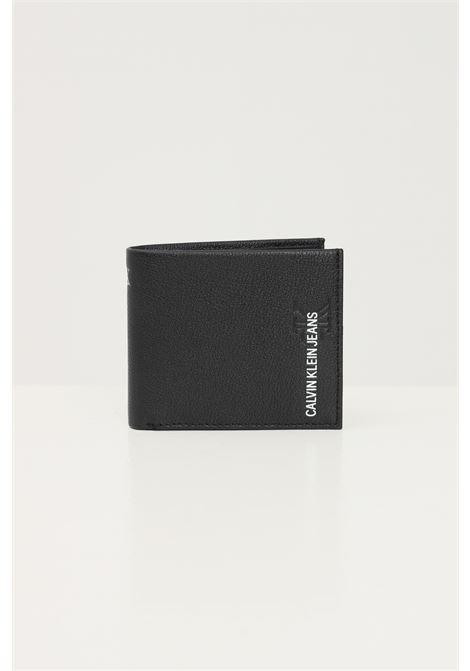 Black men's wallet by calvin klein with contrasting logo CALVIN KLEIN | Wallet | K50K506960BDS