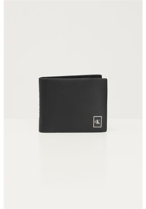 Black men's wallet by calvin klein with contrasting logo CALVIN KLEIN | Wallet | K50K506964BDS
