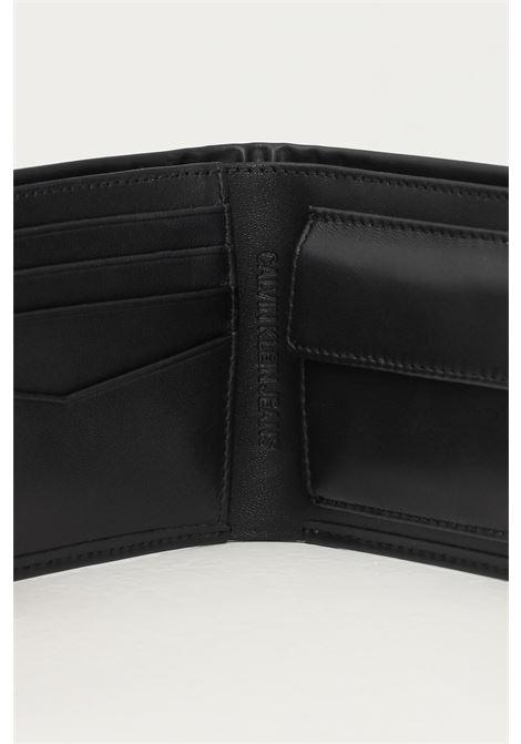 Black men's wallet by calvin klein with tone on tone logo CALVIN KLEIN | Wallet | K50K506969BDS