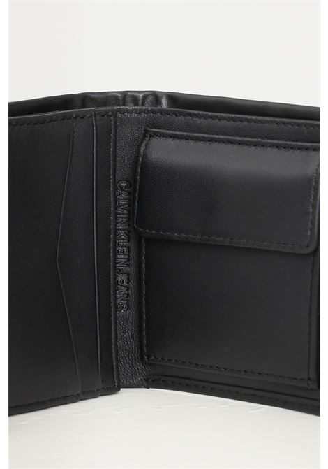 Black men's wallet by calvin klein with tone on tone logo CALVIN KLEIN | Wallet | K50K506970BDS