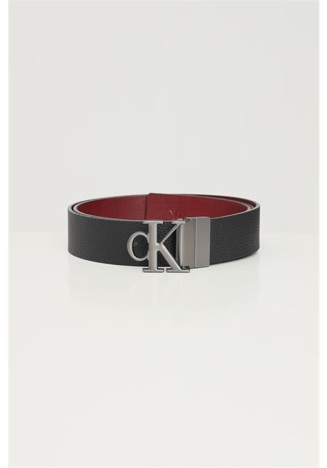 Black brown men's belt by calvin klein, reversible model CALVIN KLEIN | Belt | K50K5070660GP