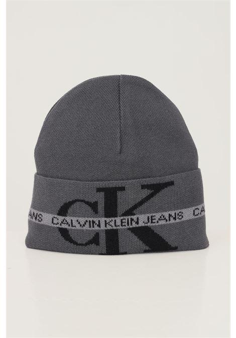 Grey unisex hat by calvin klein with maxi logo on the front CALVIN KLEIN | Hat | K50K507181BDS