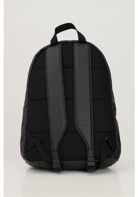 Black unisex backpack by calvin klein, recycled model CALVIN KLEIN | Backpack | K50K507218BDS