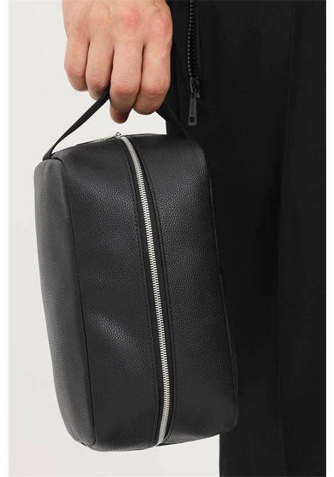 Black unisex bathroom clutch by calvin klein CALVIN KLEIN | Bag | K50K507228BDS