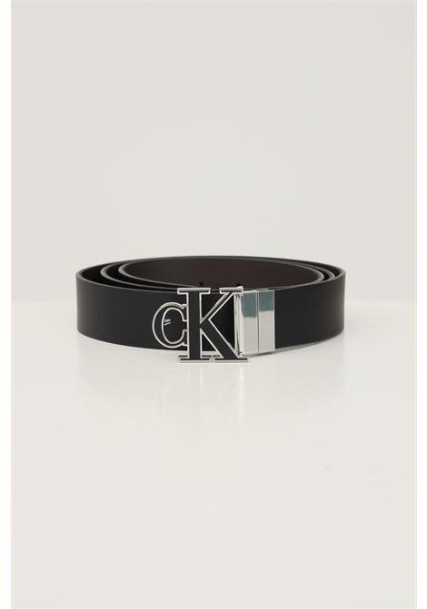 Black men's belt by calvin klein with logo buckle reversible model CALVIN KLEIN | Belt | K50K50724301R