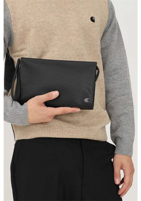 Black women's clutch bag by calvin klein with fixed strap CALVIN KLEIN | Bag | K50K507574BDS