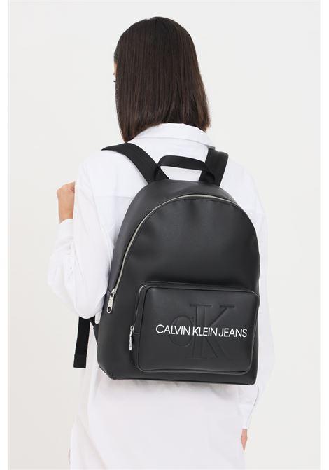 Black unisex backpack by calvin klein jeans CALVIN KLEIN | Backpack | K60K607201BDS