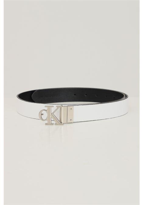 Black white women's belt by calvin klein removable model CALVIN KLEIN | Belt | K60K60773700Z