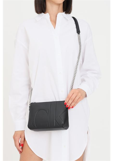 Black women's bag by calvin klein jeans with shoulder strap CALVIN KLEIN | Bag | K60K608223BDS