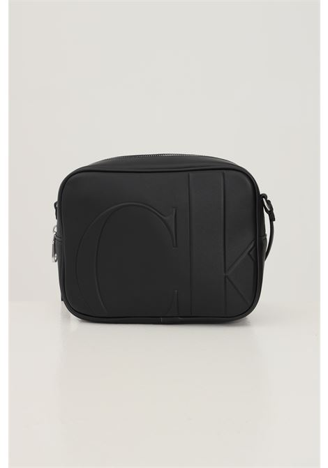 Black women's bag by calvin klein with embossed logo on the front CALVIN KLEIN | Bag | K60K608225BDS
