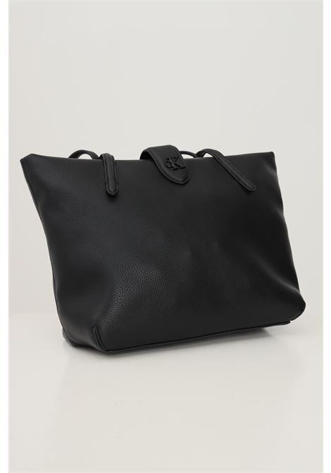 Black women's shopper in eco leather fabric by calvin klein CALVIN KLEIN | Bag | K60K608228BDS