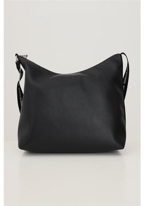 Black women's soft shopper by calvin klein in textured eco-leather CALVIN KLEIN | Bag | K60K608232BDS