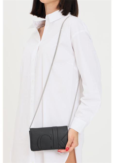 Black women's bag by calvin klein with shoulder strap CALVIN KLEIN | Bag | K60K608250BDS