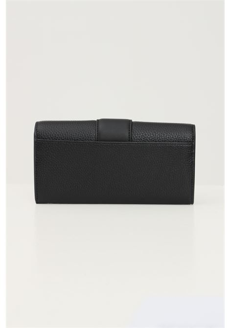 Black women's wallet by calvin klein with tone on tone logo on the front  CALVIN KLEIN | Wallet | K60K608252BDS