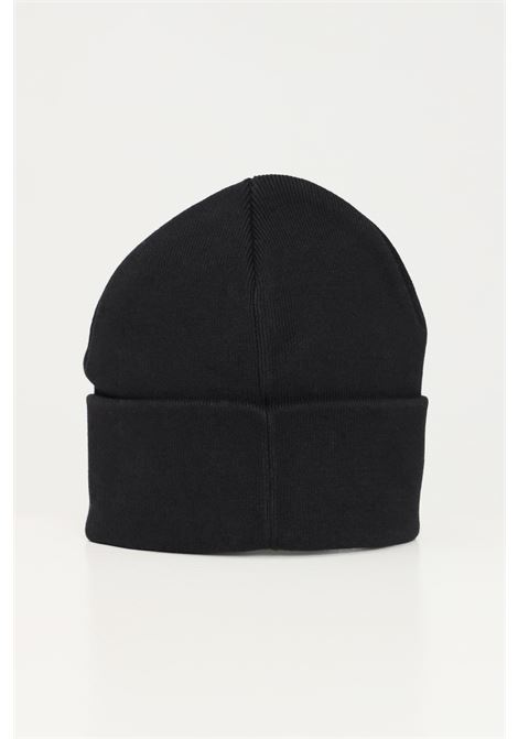 Black unisex hat by calvin klein, lapel with logo CALVIN KLEIN | Hat | K60K608272BDS
