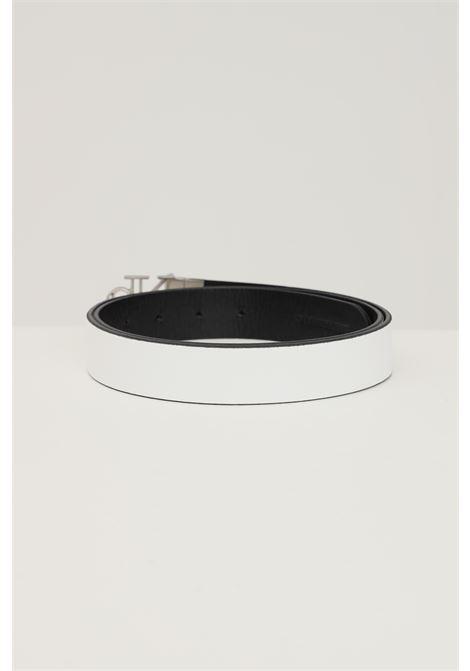 White black double face belt by calvin klein with metal buckle CALVIN KLEIN | Belt | K60K6082910GN