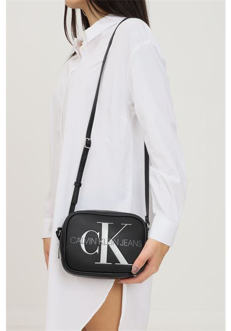 Black women's bag by calvin klein with fixed and adjustable shoulder strap CALVIN KLEIN | Bag | K60K608376BDS