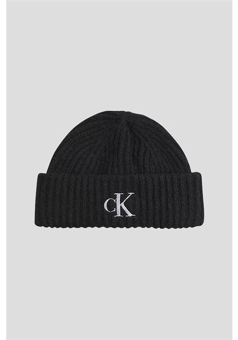 Black unisex set, scarf and hat by calvin klein CALVIN KLEIN |  | K60K608406BDS
