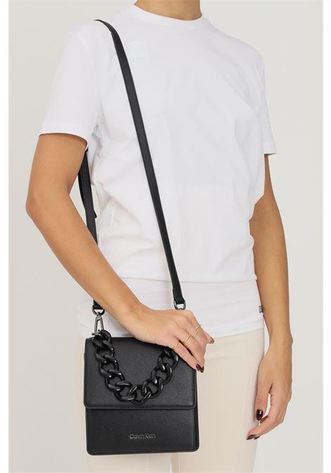 Black women's bag by calvin klein with chain handle CALVIN KLEIN | Bag | K60K608448BAX