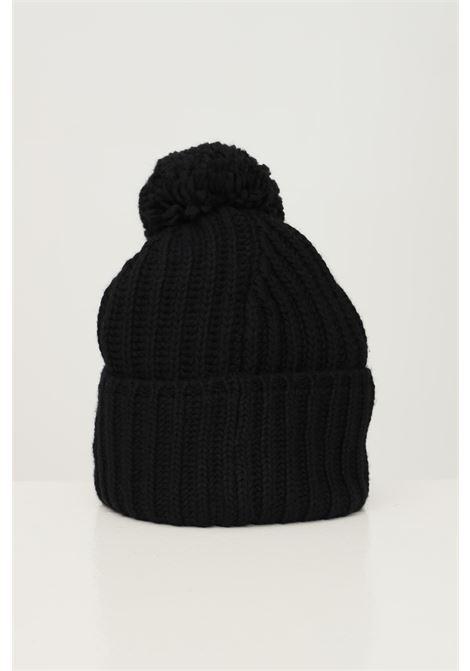 Black unisex hat by calvin klein with pon pon CALVIN KLEIN | Hat | K60K608535BAX