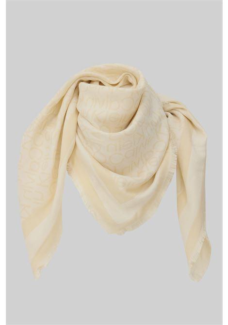 Fantasy women's scarf by calvin klein with fringes CALVIN KLEIN | Scarf | K60K608644AEO