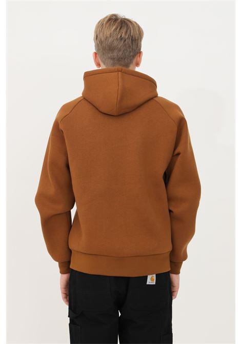 Felpa car-lux hooded uomo marrone carhartt con cappuccio CARHARTT | Felpe | I018044.030GN.XX