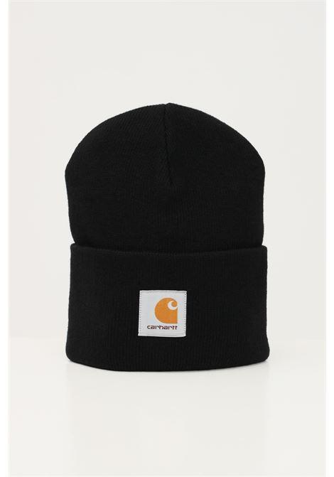 Black unisex cap by carhartt with front logo CARHARTT | Hat | I020222.0689.XX