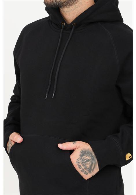 Black men's sweatshirt by carhartt with hood and pocket CARHARTT | Sweatshirt | I026384.0300F.XX