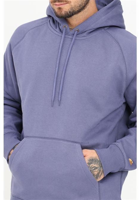 Violet men's sweatshirt by carhartt with hood and pocket CARHARTT | Sweatshirt | I026384.030JL.XX