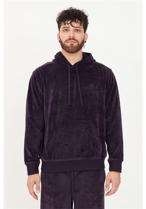 Violet men's sweatshirt by carhartt with hood and maxi pocket  CARHARTT | Sweatshirt | I028276.030EO.XX