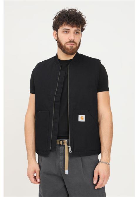 Gilet uomo nero carhartt con tasche laterali CARHARTT | Giubbotti | I028423.0389.01