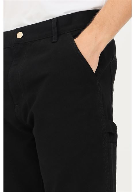 Pantaloni single knee uomo nero carhartt a vita alta CARHARTT | Pantaloni | I028624.3289.02