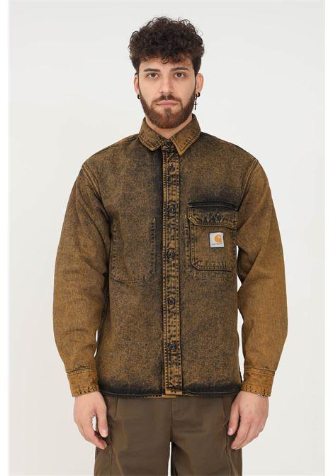 Camicia uomo giallo antico carhartt con tasca frontale CARHARTT | Camicie | I029155.030EP.ZF