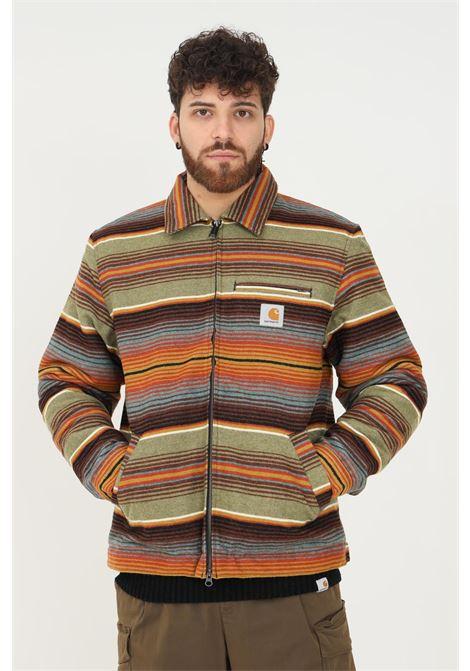 Giubbotto uomo a righe multicolor carhartt con zip frontale CARHARTT | Giubbotti | I029438.030OJ.XX