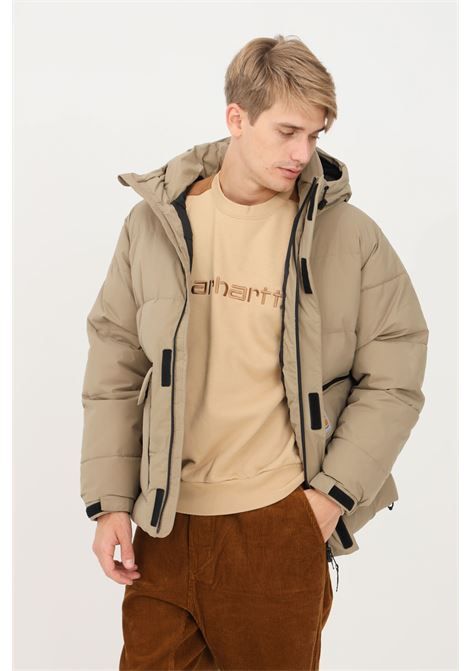 Piumino uomo tortora carhartt con zip integrale e strappo CARHARTT | Giubbotti | I029449.030EK.XX