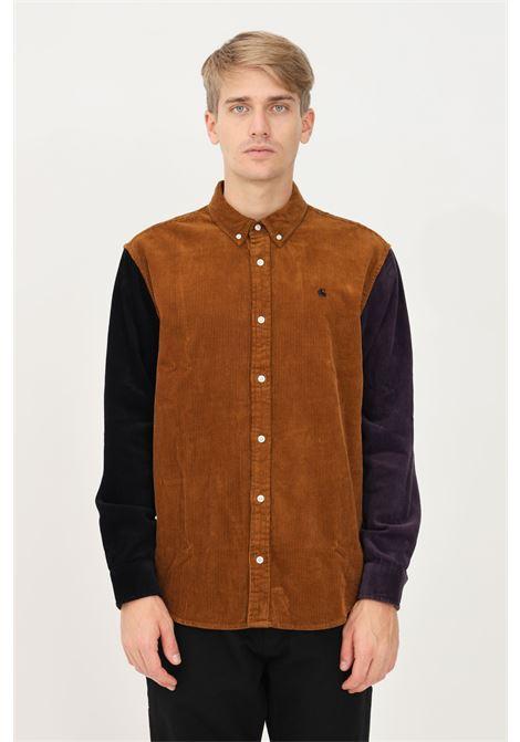 Camicia triple madison cord uomo marrone carhartt a costine CARHARTT | T-shirt | I029480.030IF.XX