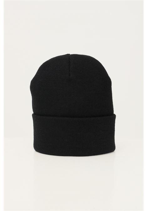 Cappello uomo nero carhartt con risvolto e logo frontale ricamato CARHARTT | Cappelli | I029490.060D2.XX
