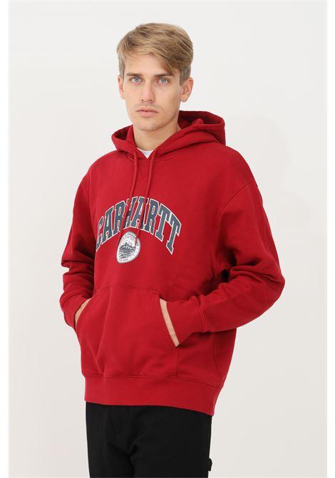 Felpa barkley uomo rosso carhartt con cappuccio CARHARTT | Felpe | I029511.030EU.XX