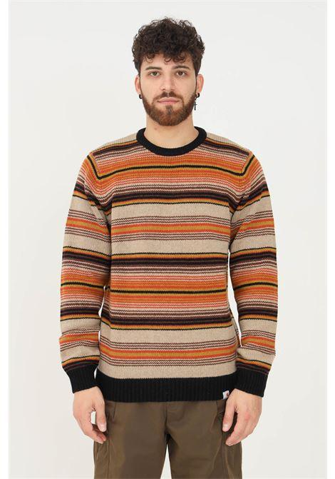 Maglione uomo a righe multicolor carhartt modello girocollo CARHARTT | Maglieria | I029521.030K5.XX