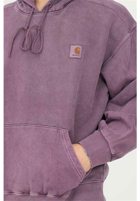 Felpa viola in tessuto pesante da uomo carhartt con cappuccio CARHARTT | Felpe | I029523.030EO.XX