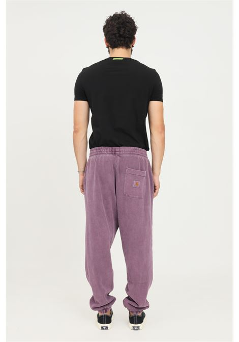 Pantaloni uomo viola carhartt modello casual con elastico in vita CARHARTT | Pantaloni | I029525.030EO.XX