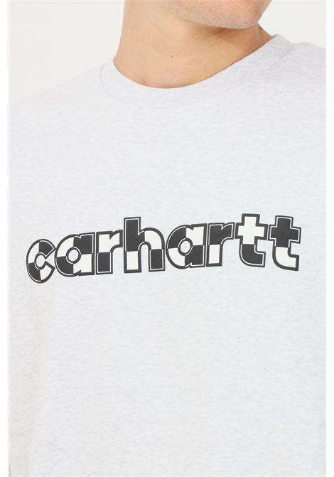 Felpa range script uomo grigio carhartt girocollo CARHARTT | Felpe | I029530.03482.XX