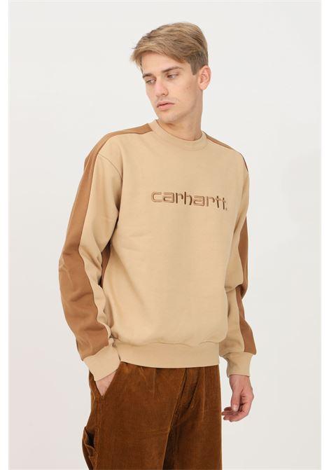 Felpa wip tanare bicolor uomo beige carhartt girocollo CARHARTT | Felpe | I029574.030JW.XX