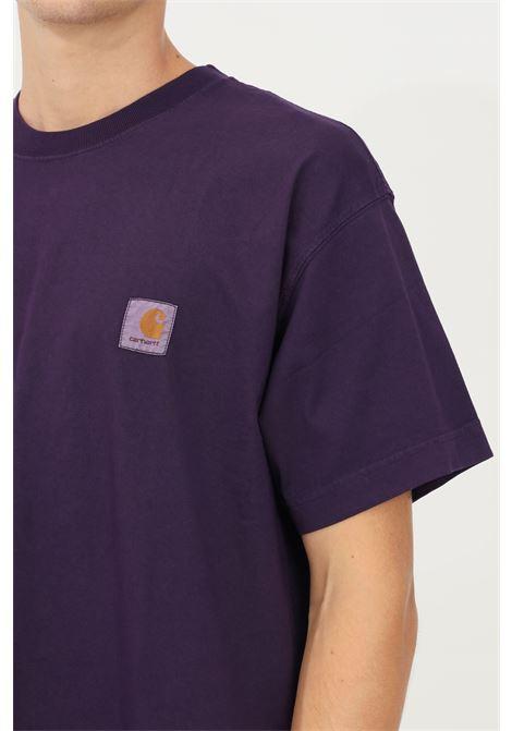 T-shirt basic uomo viola carhartt a manica corta CARHARTT | T-shirt | I029598.030EO.XX