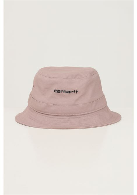 Pink unisex bucket by carhartt modello bucket with embroidered logo in contrast CARHARTT | Hat | I029937.040J7.XX